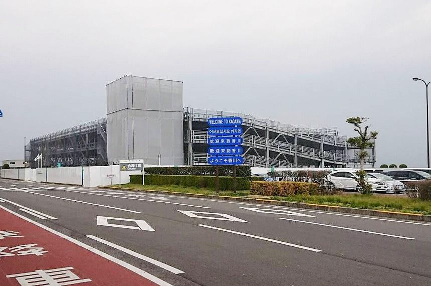 高松空港の立体駐車場がかなり出来てる!現状満車多いみたい。