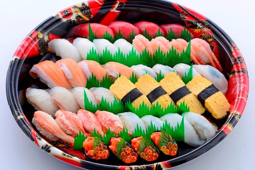 【テイクアウト情報】寿し一貫太田店の10種類てんこ盛りなお寿司